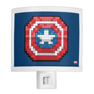 16-Bit Pixelated Captain America Shield Night Light