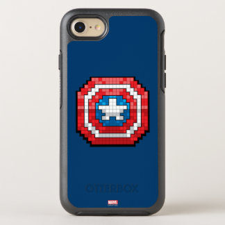 16-Bit Pixelated Captain America Shield OtterBox Symmetry iPhone 7 Case