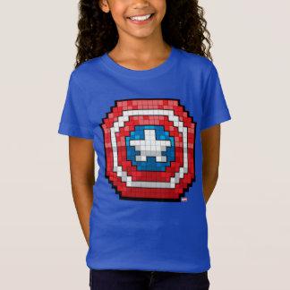 16-Bit Pixelated Captain America Shield T-Shirt