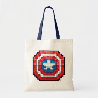 16-Bit Pixelated Captain America Shield Tote Bag
