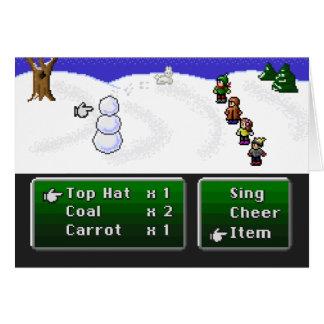 16-Bit RPG Snowman Card