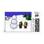 16-Bit RPG Snowman Stamp