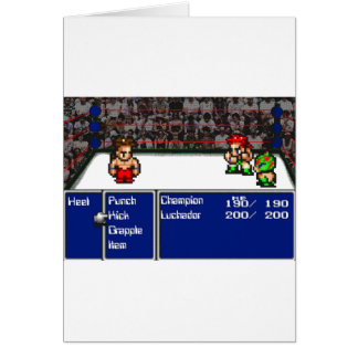16 bit RPG Wrestling Card