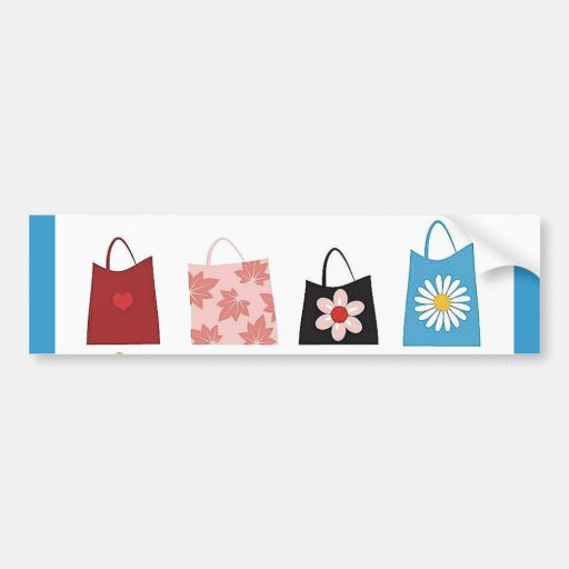 16 bolsos de compras libres del vector pegatina de parachoque