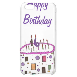 16 candles on my cake case for iPhone 5C