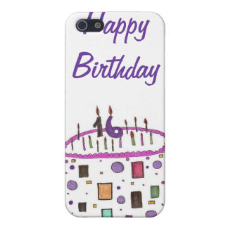 16 candles on my cake iPhone SE/5/5s case