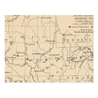 16 Center of population 17901900 Postcard