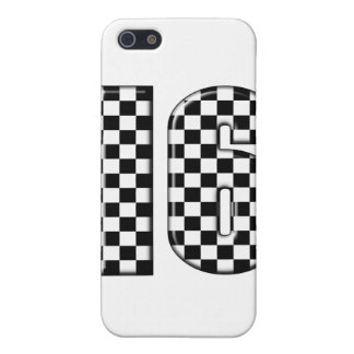 16 checkered auto racing number iPhone SE/5/5s cover