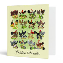 16 Chicken Families 3 Ring Binder