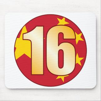 16 CHINA Gold Mouse Pad