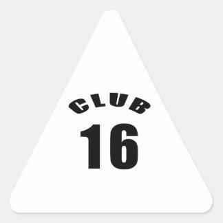16 Club Birthday Designs Stickers