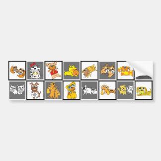 16 Dogs Illustration Grey Sticker 6