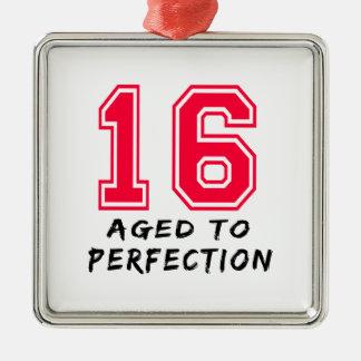 16 envejeció al diseño del cumpleaños de la perfec ornato