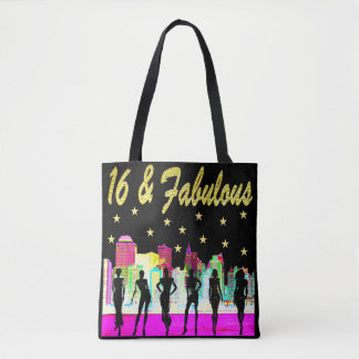 16 & FABULOUS NYC DIVA DESIGN TOTE BAG