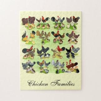 16 familias del pollo rompecabeza