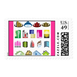 16-Free-Real-Estate-Vector-Logo-types Postage