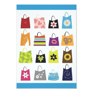 16 Free Vector Shopping Bags 5x7 Paper Invitation Card