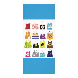 16 Free Vector Shopping Bags Full Color Rack Card