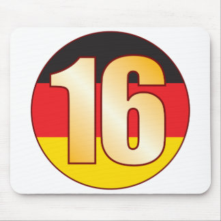16 GERMANY Gold Mouse Pad