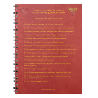 16 golden rules of the Business Analyst Charter Spiral Notebook