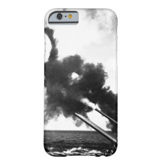 """16"""" guns of the USS IOWA firing during_War Image Barely There iPhone 6 Case"""