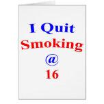 16 I Quit Smoking Card
