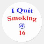 16 I Quit Smoking Sticker