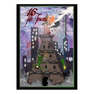 16 la torre tarjetas de visita grandes