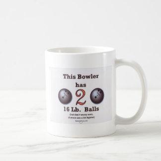 16 lb Bowling Balls Coffee Mug