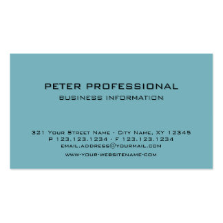 16 Modern Professional Business Card br  turquoise