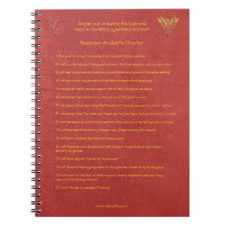 16 normas de oro de la carta del analista del libro de apuntes