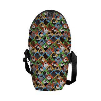 16 North American Raptor Profiles (tiled) Messenger Bag