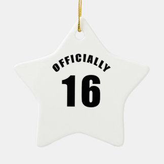 16 Officially Design Double-Sided Star Ceramic Christmas Ornament