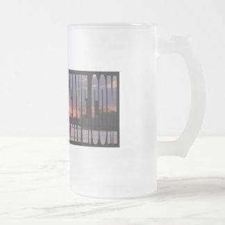 16 onzas. Taza del vidrio esmerilado de la puesta