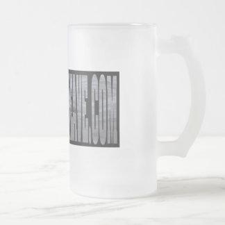 16 onzas. Taza del vidrio esmerilado del bribón