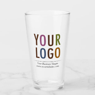 16 oz Custom Pint Glass with Your Logo No Minimum