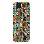 16 perfiles norteamericanos del rapaz (tejados) iPhone 4 Case-Mate coberturas