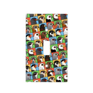 16 perfiles norteamericanos del rapaz (tejados) placas para interruptor