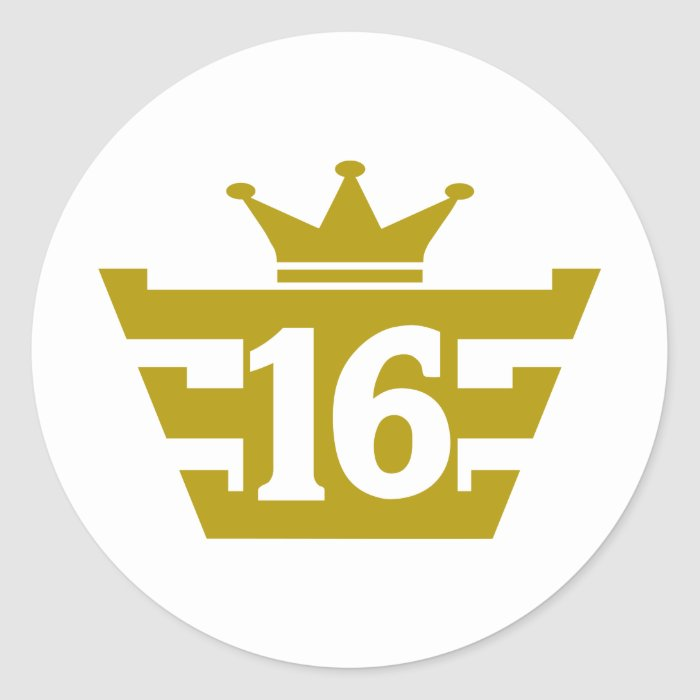 16-Royal.png Classic Round Sticker