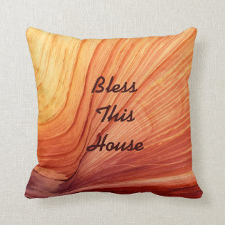 """16"""" Square Pillow Bless This House Wedding Gift"""