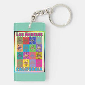 16 Surfers Los Angeles Keychain Double-Sided Rectangular Acrylic Keychain