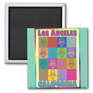 16 Surfers Los Angeles Magnet 2 Inch Square Magnet