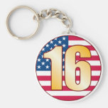 16 USA Gold Keychain