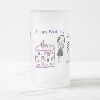 16 velas en mi torta taza de cristal