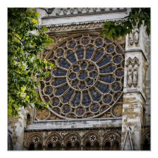 "16""x16"", Westminster Abbey - Stained Glass Window Poster"