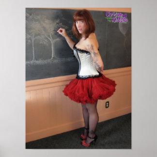 """16"""" x 12"""" Chrissy Kittens Hot For Teacher Poster"""
