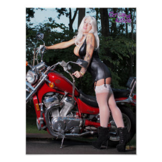 "16"" x 12"" Chrissy Kittens Red Rider Poster"