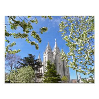 "16"" X 12"" Salt Lake City LDS Temple Photo Print"