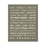 "16"" x 20"" Family Rules Canvas Canvas Print"