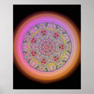 """16"""" x 20"""", Flower Mandala Poster"""